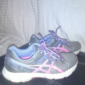 Asics GEL-Contend 2 Size 9 silver,blue,pink